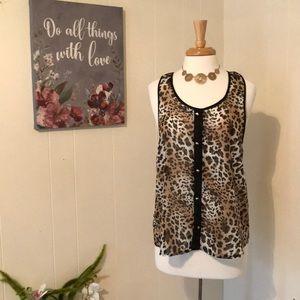 🛍5/$20!!🛍 Body central Cheetah print tank